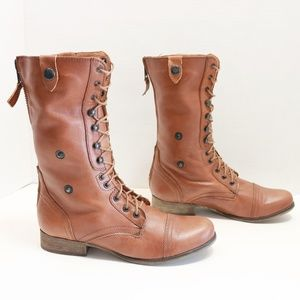 Steve Madden fold over brown boots size 10